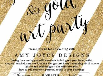 Join Morgan Allen Designs for an ART Party this Thursday