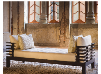 Relax with the new Adriana Hoyos Chocolate Collection Day Bed