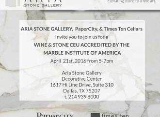 Aria Stone Gallery Wine + Stone Event