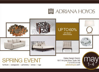 Join Adriana Hoyos for their Spring Sale