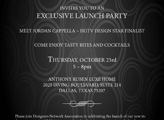 Join Anthony Ruben Luxe Home & the Designers Network Association for an Exclusive Launch Party
