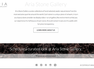 Aria Stone Gallery Launches New Website