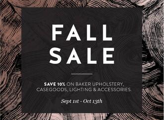 Baker Fall Sale