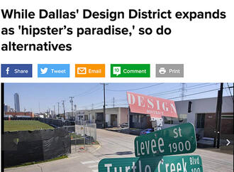 The Dallas Morning News Features Design District's Levee Street