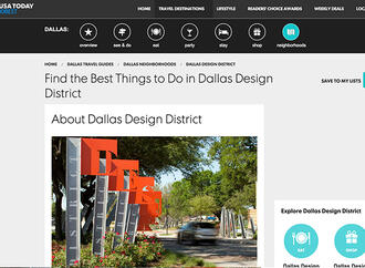 USA Today 10 Best Feature: Find the Best Things to Do in Dallas Design District